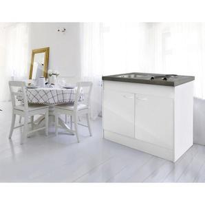 Respekta Miniküche E-Geräte, Spüle , Weiß , Metall , 100 cm