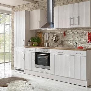 respekta-Premium-Küchenblock »Landhaus« - silber - Edelstahl -
