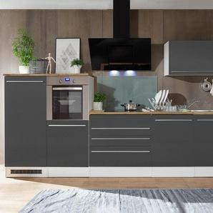 respekta-Premium-Küchenblock - schwarz - Holz -