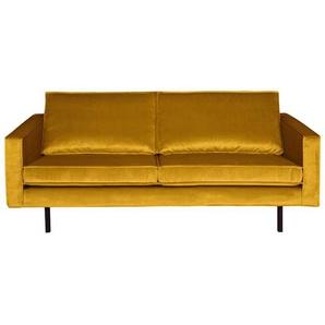 Retro Couch in Gelb Samtbezug