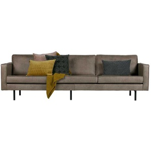 Retro Couch in Grau Kunstleder Armlehnen