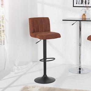 Angesagter Design Barhocker PORTLAND Vintage Braun Barstuhl Hocker