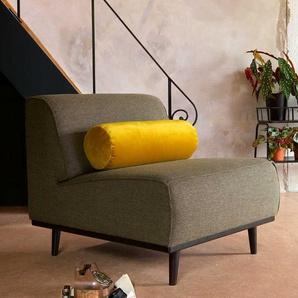 Retro Sessel in Gr�n Webstoff Federkern