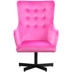 Retro Sessel in Pink Samtbezug