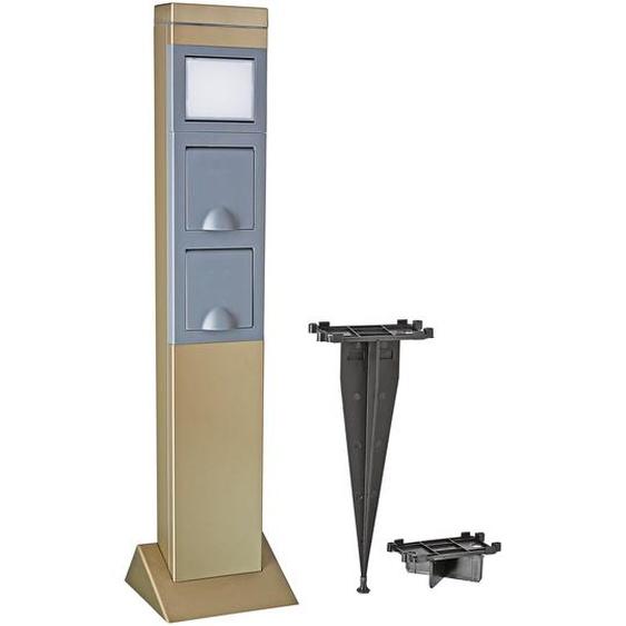 REV Ritter Schukosteckdose SteelCraft mit LED-Leuchte grau