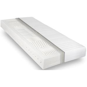 Revor Bedding Naturmatratze Anatomic Natural Latex 19, 19 cm hoch, Raumgewicht: 75 kg/m³, (1 St.), 100% natürlich, nachhaltig, mit einzigartigem ANATOMIC Latexkern 2 (0 kg - 80 kg), B/H/L: 140 x 210 cm, Material oben: Bio-Baumwolle, unten: 1 St. weiß