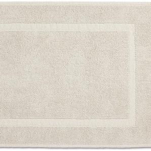 Rhomtuft Badematte Pearl, Höhe 8 mm, Hoch-Tief-Struktur rechteckig (70 cm x 120 cm), 1 St., Baumwolle beige Einfarbige Badematten