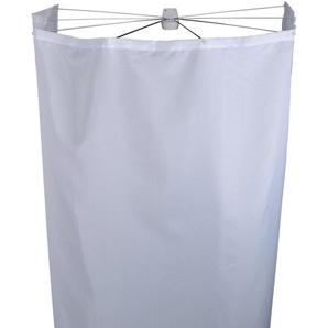 Ridder 58301-350 Duschspinne, Duschfaltkabine, Ombrella mit Textilduschvorhang, Madison, weiß