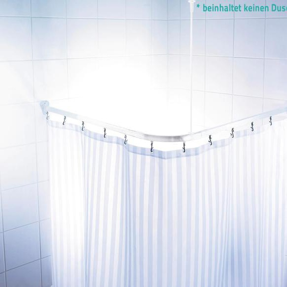 Ridder Vorhangschiene Comfort, kürzbar, Eckstange für Duschvorhänge, Länge 90 cm - weiß Gardinenschienen Gardinen Vorhänge