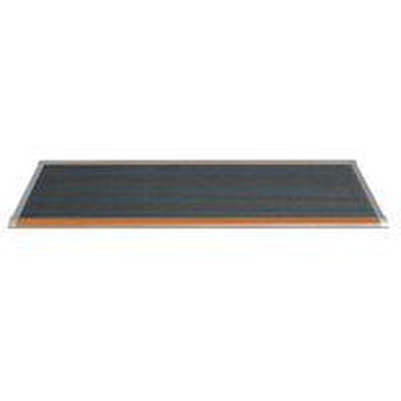 RiZZ - Fußmatte Outdoor 90 × 60 cm, Teak / weiß