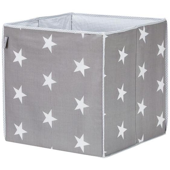 Roba Aufbewahrungsbox   Little Stars - grau - Stoffbezug: 65% Polyester, 35% Baumwolle, Füllung: Pappe | Möbel Kraft