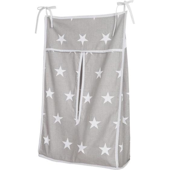 roba Aufbewahrungstasche Little Stars, für Windeln 38x15x62 cm grau Kinder Kinderzimmerdekoration Kindermöbel Aufbewahrungsboxen