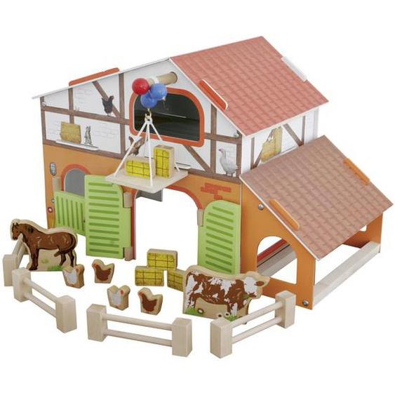Roba Bauernhof , Mehrfarbig , Holz , 37x30.5x31 cm
