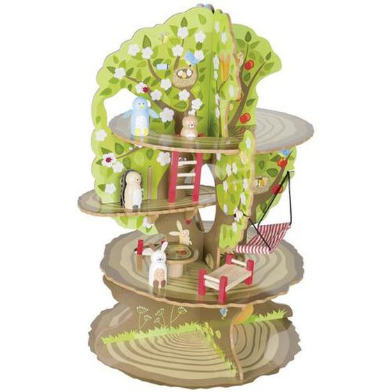 Roba Baumhaus 4- Jahreszeiten , Mehrfarbig , Holz, Papier , 46x62x42 cm