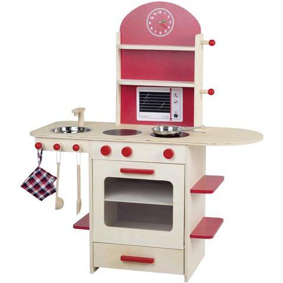 Roba Kinderküche , Mehrfarbig , Holz , Schichtholz , 82x96x36 cm