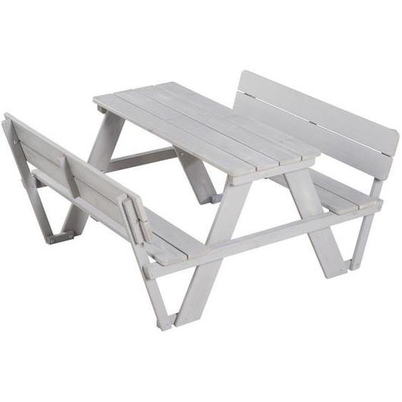 Roba Kindersitzgruppe , Grau , Holz , 107x50.5x89 cm