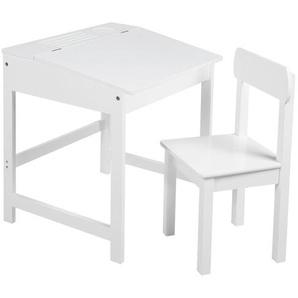 Roba Kindersitzgruppe roba Schulpult , Weiß , Holz , Kindersitzgruppen