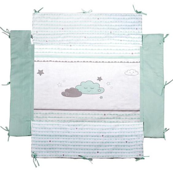roba Laufgittereinlage Happy Cloud Einheitsgröße blau Kinder Laufgitter Babygitter Bettnestchen