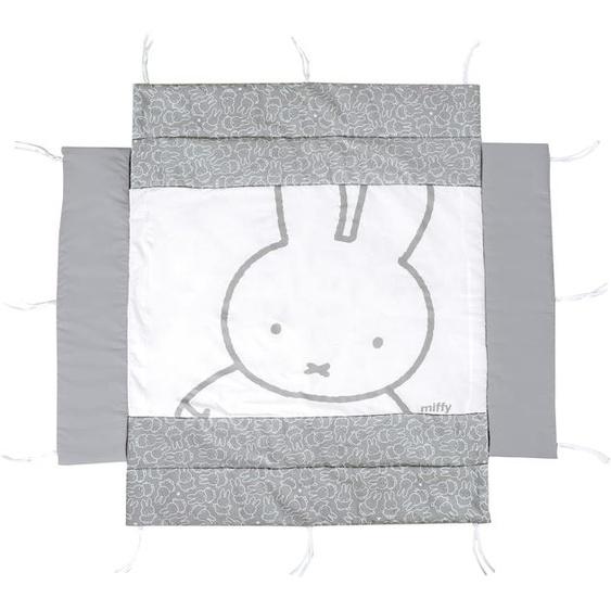 roba Laufgittereinlage Miffy Einheitsgröße grau Kinder Laufgittereinlagen Babygitter Bettnestchen