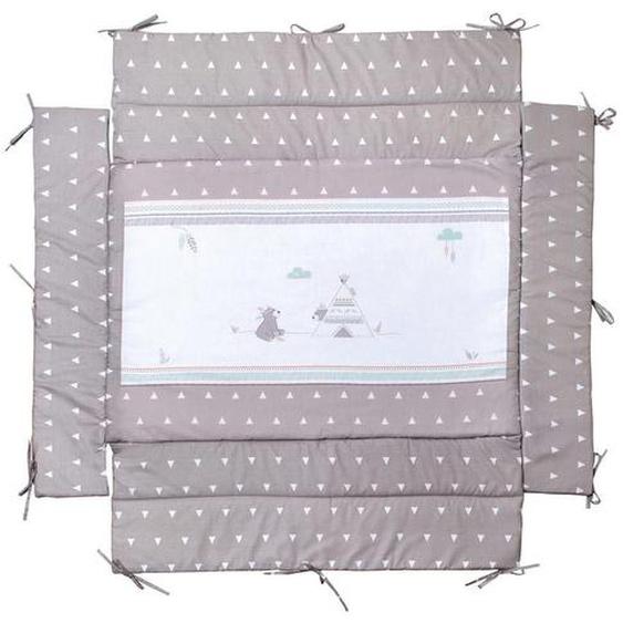 Roba Laufgittereinlage roba Indibär 96/18/96 cm , Weiß, Braun , Textil , Bär , 96x18x96 cm