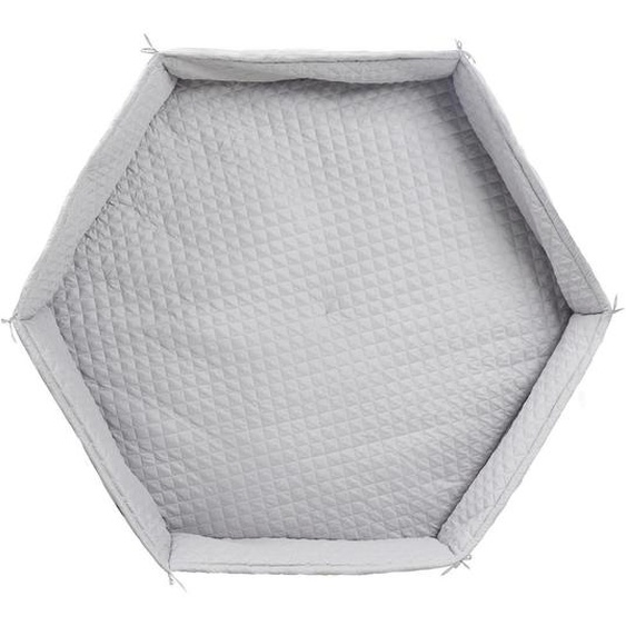 Roba Laufgittereinlage roba Style 115/2/100 cm , Grau , Textil , Uni , 115x2x100 cm