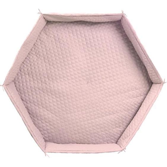 roba Laufgittereinlage Style, 6-eckig Einheitsgröße rosa Kinder Laufgittereinlagen Babygitter Bettnestchen