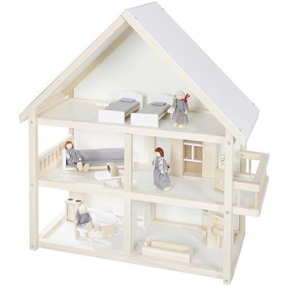 Roba Puppenhaus , Beige , Holz , 70x74x30 cm