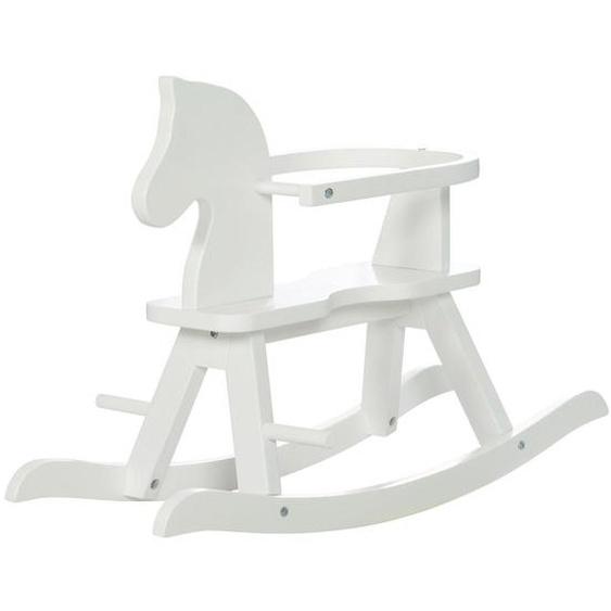 Roba Schaukelpferd , Weiß , Holz , Schichtholz , 82x55x43 cm