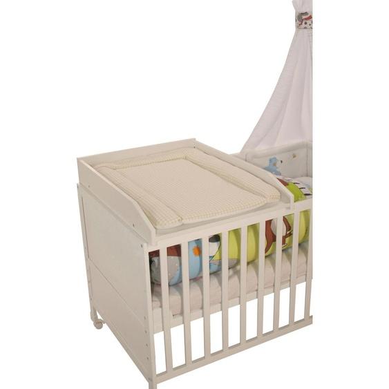 roba Wickelplatte Vichy, beige B/H/T: 49 cm x 14 80 weiß Baby Zubehör für Babybetten Babymöbel