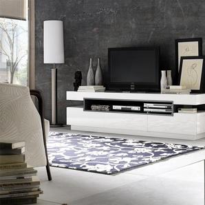 Robas Lund, Lowboard, Fernsehtisch, TV-Schrank,  Laura, Hochglanz/Weiß, 200 x 50 x 52 cm, 59018WG3
