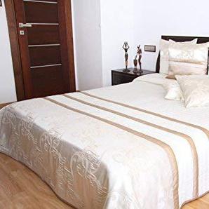 Rodnik 865-2 Luxus Tagesdecke Salzburg Bettüberwurf 3 tlg. Set mit 2 Kissenhüllen 240 x 220 cm - Art. 865-2