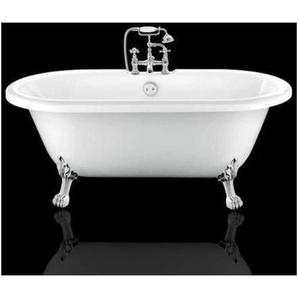 Freistehende Badewanne mit Füßen CHELSEA Löwenfüße CHROM 170 cm - ROGIER & MOTHES