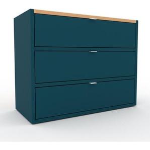 Rollcontainer Blau - Moderner Rollcontainer: Schubladen in Blau - 77 x 61 x 35 cm, konfigurierbar