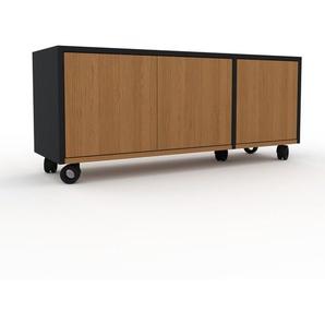 Rollcontainer Eiche - Moderner Rollcontainer: Türen in Eiche - 116 x 49 x 35 cm, konfigurierbar