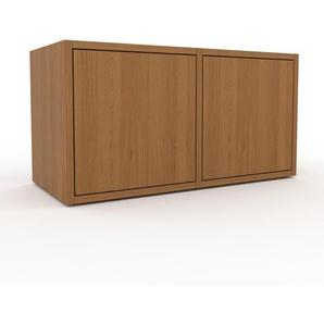Rollcontainer Eiche - Moderner Rollcontainer: Türen in Eiche - 79 x 41 x 35 cm, konfigurierbar