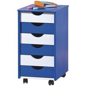 Rollcontainer  Isere ¦ blau ¦ Maße (cm): B: 35 H: 65 T: 40 Schränke  Rollcontainer » Höffner