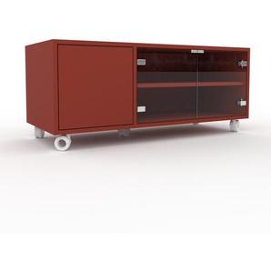 Rollcontainer Kristallglas klar - Moderner Rollcontainer: Türen in Kristallglas klar - 116 x 49 x 47 cm, konfigurierbar