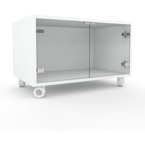 Rollcontainer Kristallglas klar - Moderner Rollcontainer: Türen in Kristallglas klar - 77 x 49 x 47 cm, konfigurierbar