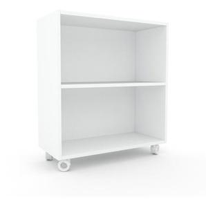 Rollcontainer Weiß - Moderner Rollcontainer: Hochwertige Qualität, einzigartiges Design - 77 x 87 x 35 cm, konfigurierbar
