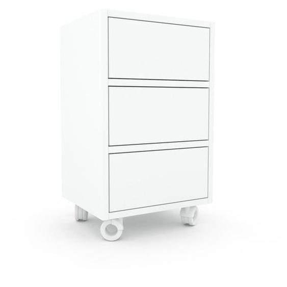 Rollcontainer Weiß - Moderner Rollcontainer: Schubladen in Weiß - 41 x 68 x 35 cm, konfigurierbar