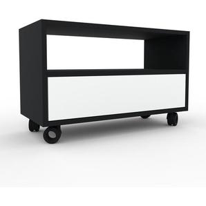 Rollcontainer Weiß - Moderner Rollcontainer: Schubladen in Weiß - 77 x 49 x 35 cm, konfigurierbar
