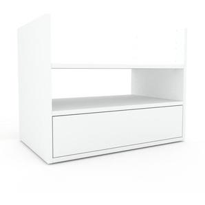 Rollcontainer Weiß - Moderner Rollcontainer: Schubladen in Weiß - 77 x 61 x 47 cm, konfigurierbar
