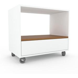 Rollcontainer Weiß - Moderner Rollcontainer: Schubladen in Weiß - 77 x 68 x 47 cm, konfigurierbar