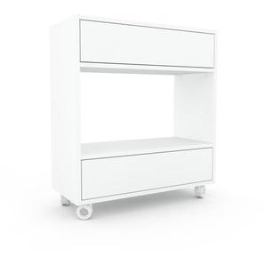 Rollcontainer Weiß - Moderner Rollcontainer: Schubladen in Weiß - 77 x 87 x 35 cm, konfigurierbar