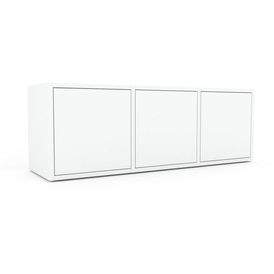 Rollcontainer Weiß - Moderner Rollcontainer: Türen in Weiß - 118 x 41 x 35 cm, konfigurierbar