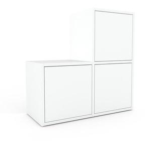 Rollcontainer Weiß - Moderner Rollcontainer: Türen in Weiß - 79 x 80 x 35 cm, konfigurierbar