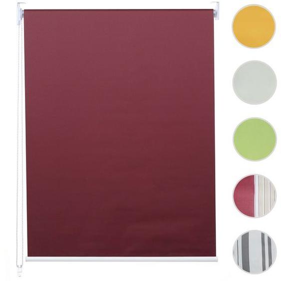 Rollo HWC-D52, Fensterrollo Seitenzugrollo Jalousie, 120x160cm Sonnenschutz Verdunkelung blickdicht ~ bordeaux