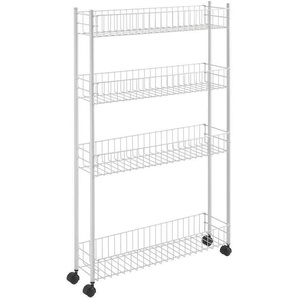 Rollwagen »Fino«, weiß, 60x16x95cm, Metaltex