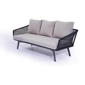 Rope Sofa Diva 196 cm - schwarz
