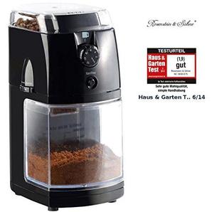 Rosenstein & Söhne Espressomühle: Elektrische Kaffeemühle mit hochwertigem Scheibenmahlwerk (Kaffeemuehle)